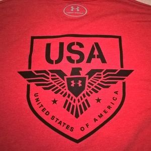 Under Armour Mens USA T-Shirt Heatgear M
